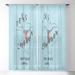 Texas Longhorn God's Country Sheer Curtain