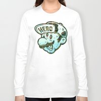 super hero Long Sleeve T-shirts featuring Hero by Beery Method
