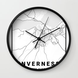 Inverness Light City Map Wall Clock