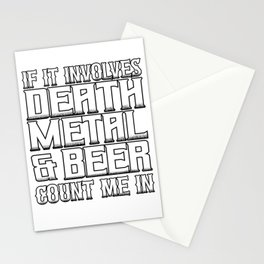 Death Metal & Beer? Count Me In Stationery Cards