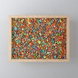 Popart pebbles Framed Mini Art Print