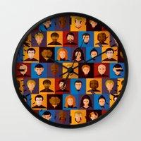 picard Wall Clocks featuring STARFLEET by badOdds