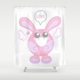 Bunbun Love Shower Curtain