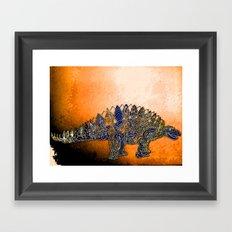 Mr.Steg O. Saurus Framed Art Print