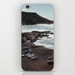 Boats on a beach iPhone Skin