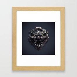 Foo Lion Dog Mask Framed Art Print