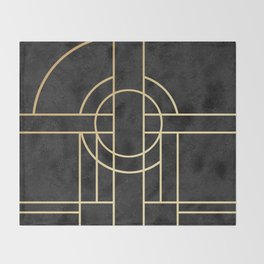 Art Deco Black Marble Decke