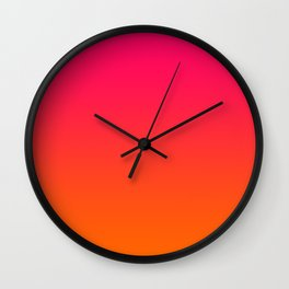 Bright Pink and Orange Ombre Wall Clock