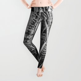 Plant Photography Tropical Exotic Plants Snake Plant Tongue Beauty Wild Nature Black and White Leggings