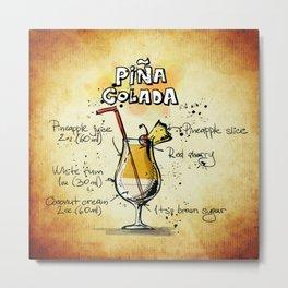 Cocktail Pina Colada Metal Print