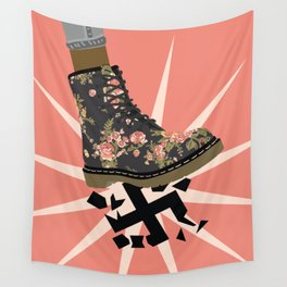 Smash Facism Wall Tapestry