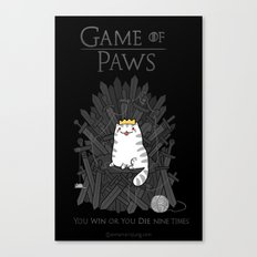 Game of Paws Canvas Print