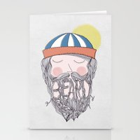 beard Stationery Cards featuring BEARD by Nazario Graziano