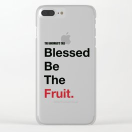 Blessed Be The Fruits Clear iPhone Case