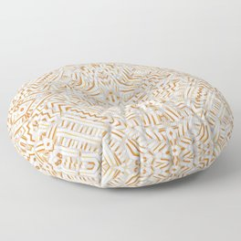 Clandestine Orange White Floor Pillow