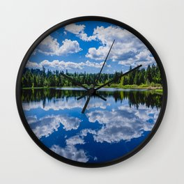 The lake Etang des Royes in the canton of Jura in Switzerland Wall Clock