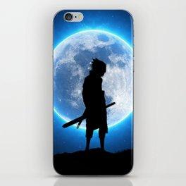 Sasuke uchiha blue moon iPhone Skin