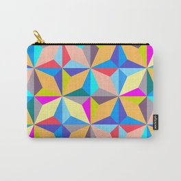 Abstract Colorful Polychromatic Geometry Carry-All Pouch