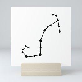 Scorpio (Black & White) Mini Art Print