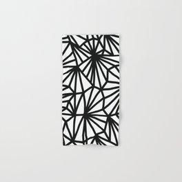 Modern Black and White geometric pattern #abstractart #decor Hand & Bath Towel