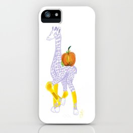Thanksgiving Dinner - Midas is Ready - Christmas Lavender Giraffe - What does Midas do when Thanksgi iPhone Case