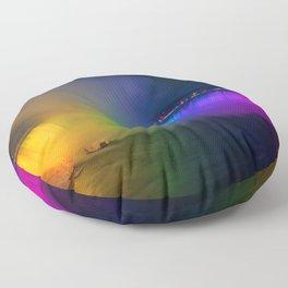 Rainbow Niagara Falls Waterfall (Color) Floor Pillow