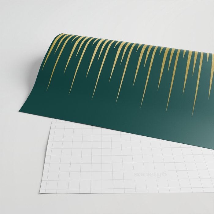 Linear Gold & Emerald Wrapping Paper