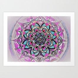 Peacock Mandala Art Print