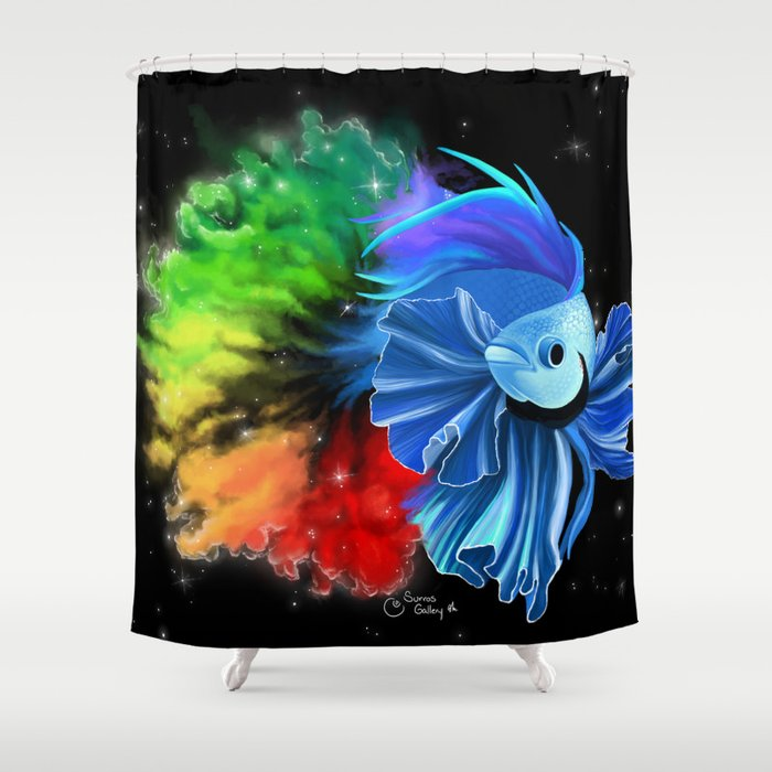 Stellar Betta Shower Curtain