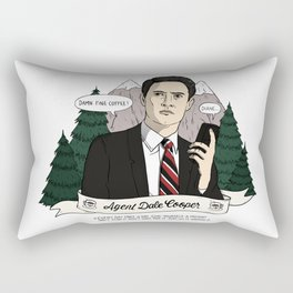Twin Peaks (David Lynch) Agent Dale Cooper Rectangular Pillow