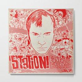 Station! Fantastic Cinematic Album Cover Metal Print