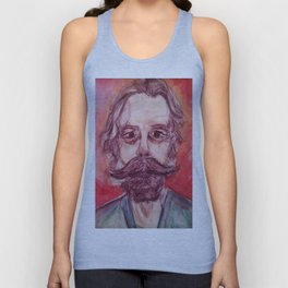 Bob Weir Watercolor Portrait Grateful Dead Unisex Tank Top