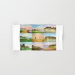 Famous Golf Courses In The USA Collage Hand & Bath Towel