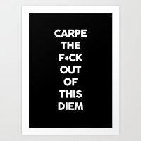 carpe Art Prints featuring Carpe  by Pencil Me In ™