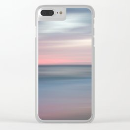 The Colors Of Evening On The Beach - Coastal Abstract Landscape Photograph Clear iPhone Case