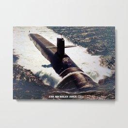 USS MICHIGAN (SSGN-727) Metal Print