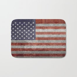 Flag of the United States of America in Retro Grunge Bath Mat