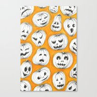 pumpkin Canvas Prints featuring Pumpkin by Saoirse Mc Dermott