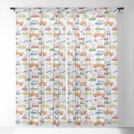 Busy Traffic Pattern Sheer Curtain