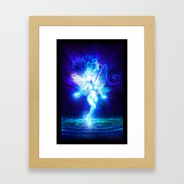 A fairy in the moonlight Framed Art Print
