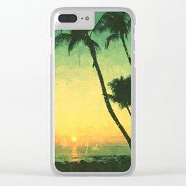 Maui Sunset Clear iPhone Case