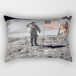 Apollo 15 - Military Salute Rectangular Pillow