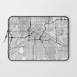 Minneapolis Map White Laptop Sleeve