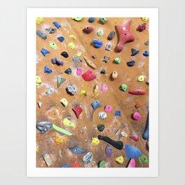 Wooden boulders climbing gym bouldering photography Art Print