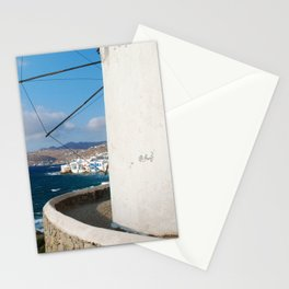 The Greek Isles - Mykonos Greece Stationery Cards