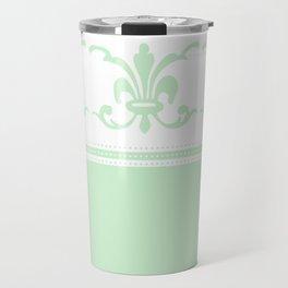 Design 3 White and Celery Travel Mug