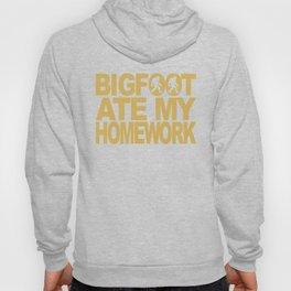 Bigfoot Ate My Homework Funny Bigfoot T-Shirt Hoody