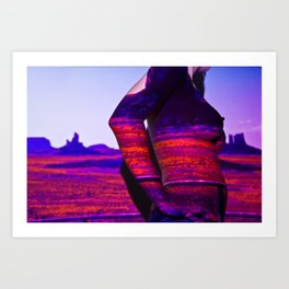 Deserted Land: Projection Series #3 Art Print