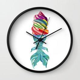 Mermaid Ice Cream Wall Clock