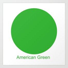 American Green Art Print